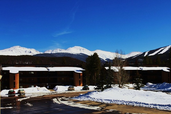 View of Winter Park mountain from Building 16